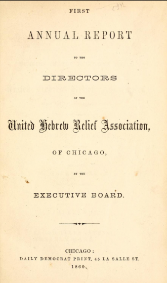 Annual reports from the UHRA of Chicago are online at the Internet Archive for 1860–63 and at HathiTrust for the 1890s.